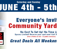 2016 Community Yard Sale!