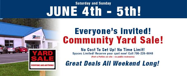 2016 community yard sale featured image
