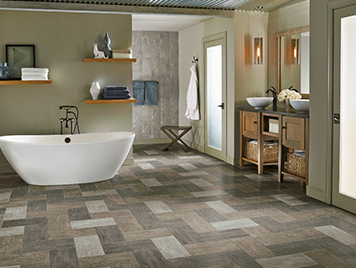 Armstrong Alterna Luxury Viny Tile Flooring Enchanted Forest Night Owl Fog Review