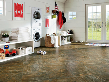 Armstrong Cushionstep Vinyl Flooring - Empire Slate / Adirondack Fall style