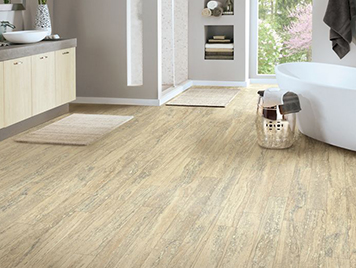 Armstrong Vinyl Flooring - Mineral Travertine / Almond Cream style