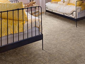 Congoleum DuraCeramic Luxury Vinyl Tile & Plank Flooring - Tidal Basin Brown Glaze style