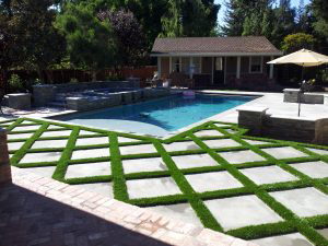 grasstex turf poolside