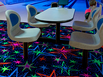 Joy carpet tiles - Neon Lights Collection - Big Bang Fluorescent style