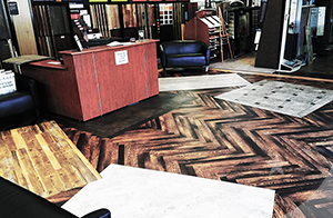 karndean luxury vinyl tile flooring design studio showroom at american carpet wholesalers