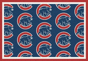 Major League Baseball Team Rugs Chicago Cubs Logo Repeat Rug Save 10% off!