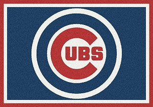 Major League Baseball Team Rugs Chicago Cubs Team Spirit Rug Chicago Cubs MKRUG-533324-1003
