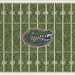College Team Rugs Florida Gators Home Field Rug Florida Gators (End Zone Color: Orange) MKRUG-533319-1500