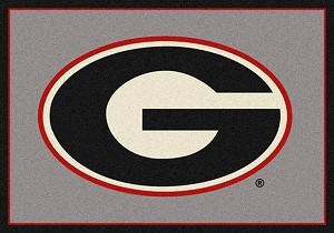 College Team Rugs Georgia Bulldogs Team Spirit Rug Georgia Logo Rug MKRUG-533315-45287