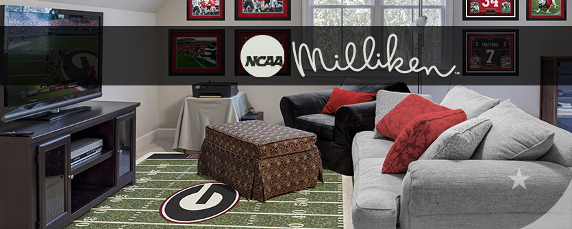 georgia bulldogs ncaa football man cave area rug