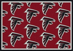 Milliken NFL Team Rug Atlanta Falcons Logo Repeat Rug
